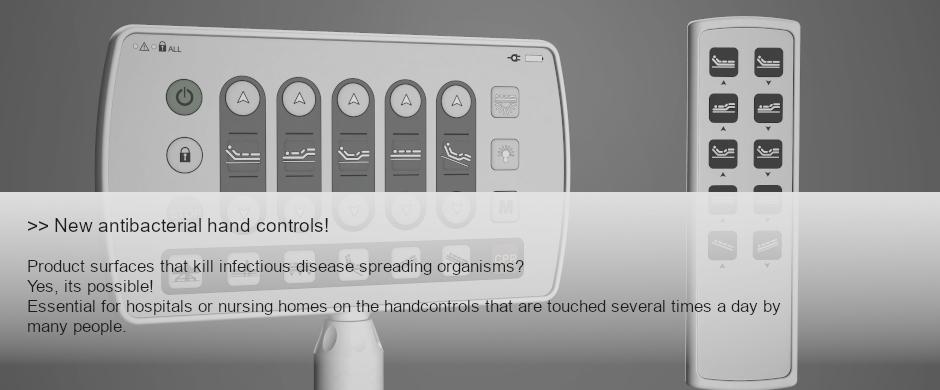 New Antibacterial hand controls!